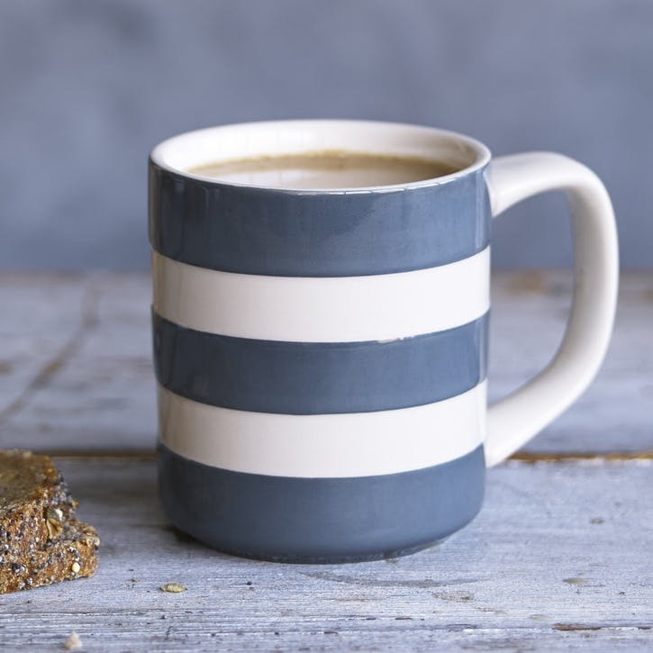 Tin Grey Mugs 10oz, Set of 4