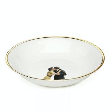 Modern Surrealist Kissing Couple Bowl