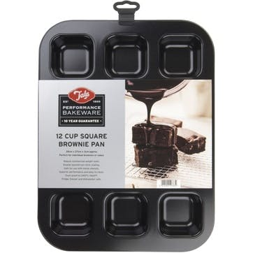 Performance Non-Stick 12 Cup Square Brownie Pan