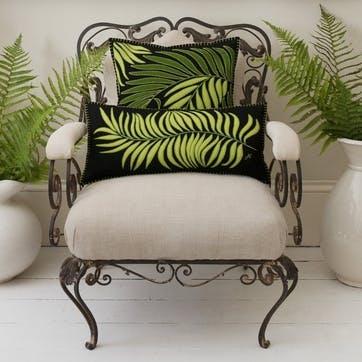 Tropical Palm Cushion, Black