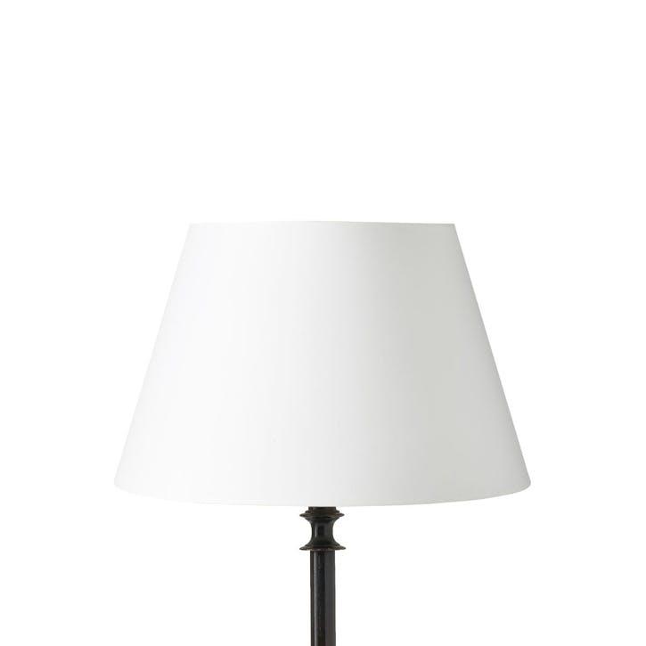 Drum Cotton Lampshade, 40cm, White