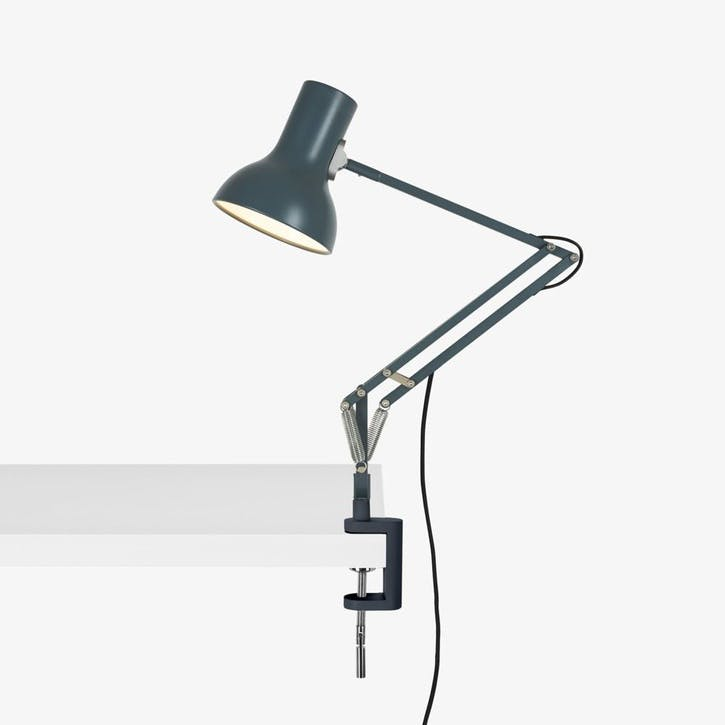 Mini Lamp with Desk Clamp Slate Grey