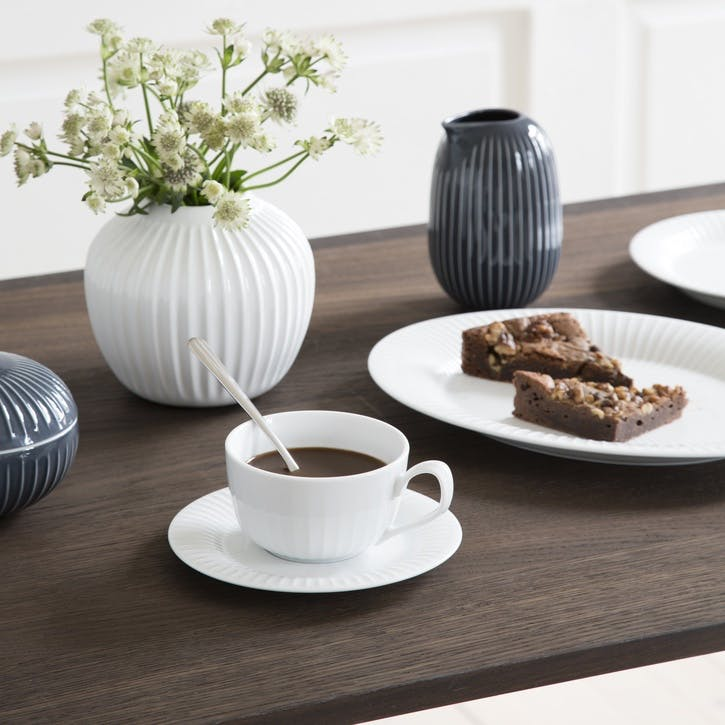 Hammershøi Cup & Saucer, White
