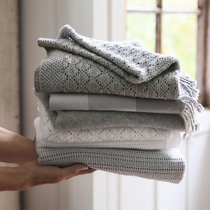 Heirloom Grey Baby Blanket