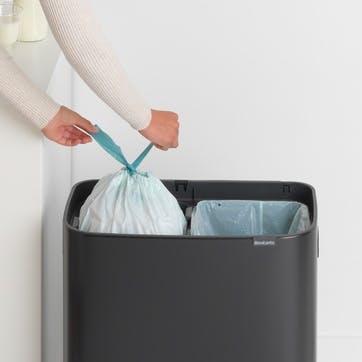 Bo Large Recycling Bin with 2 Inner Buckets, Matt Black