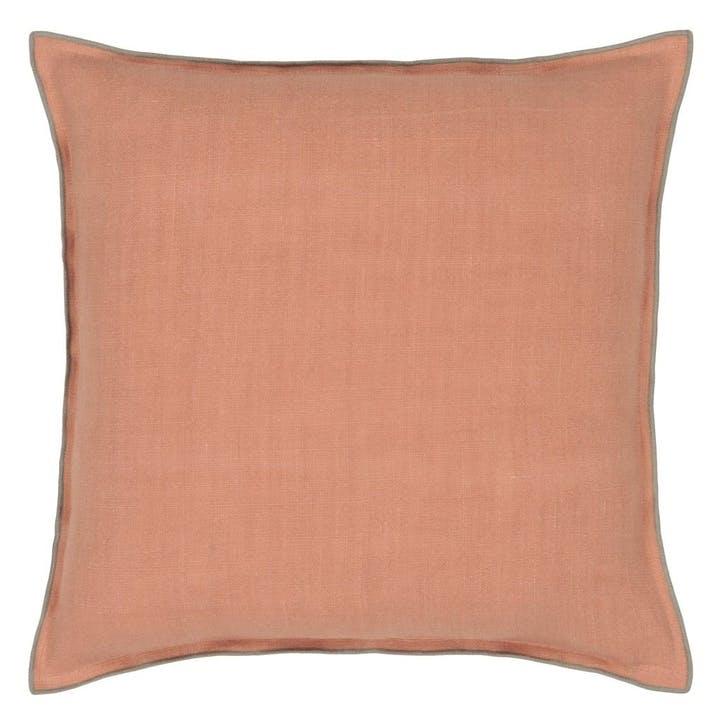 Brera Lino Coral & Roebuck Cushion