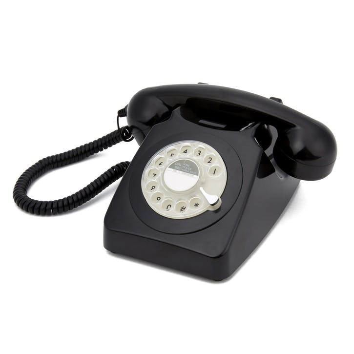 746 Rotary Telephone; Black