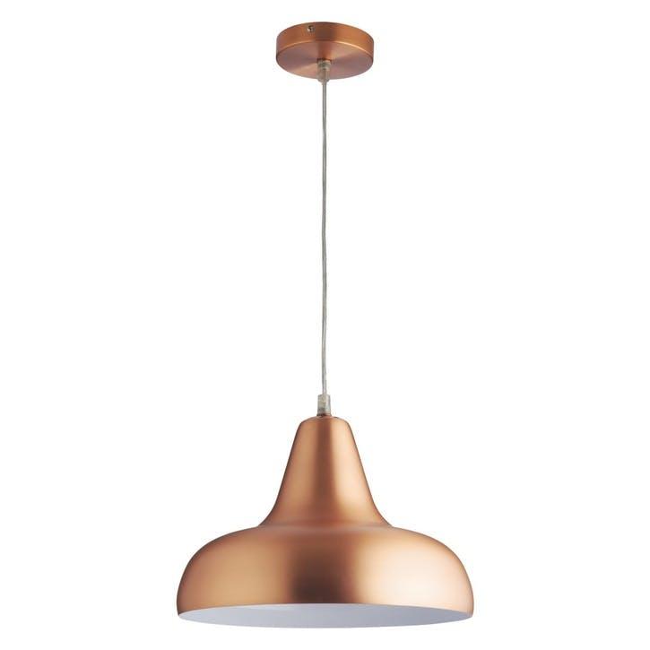 Aerial Spun Alu Pendant, Copper
