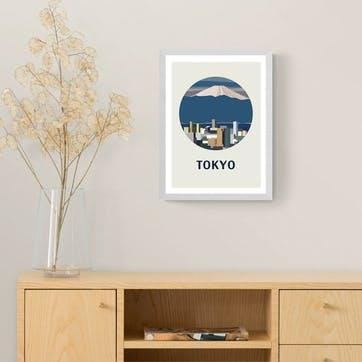 Uzual Sunday, Tokyo Circle Framed Art Print
