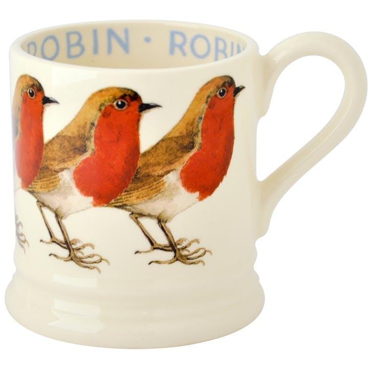 Birds Robin Mug, 1/2 Pint, Red