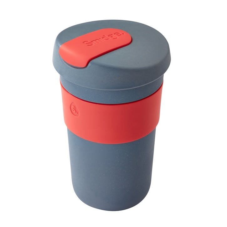 Natural Collection Coffee Cup, 400ml, Storm & Coral