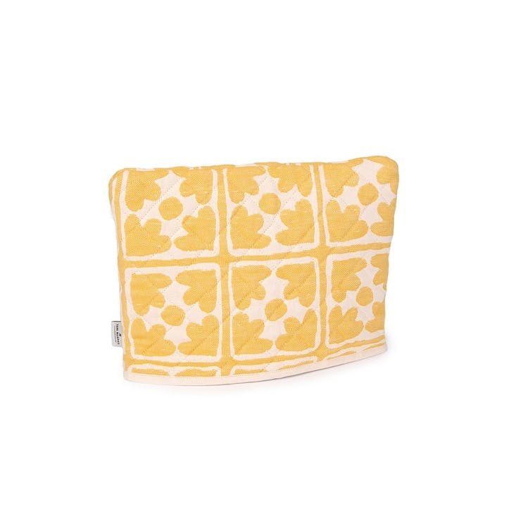 Bloom Tea Cosy; Mustard and Cream