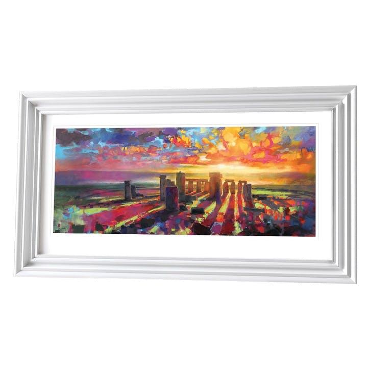 Scott Naismith Stonehenge Equinox Framed Print, 61 x 110cm