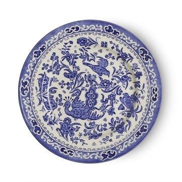 Regal Peacock Plate, 17.5cm, Blue