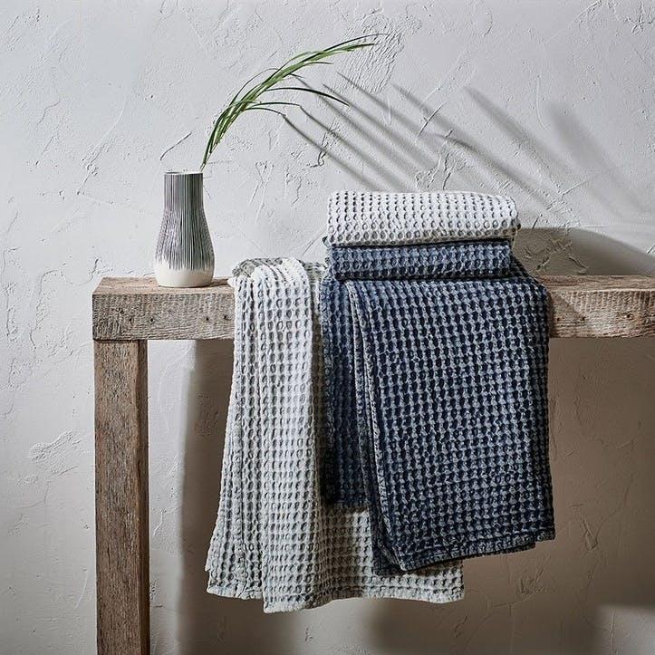 Nola Waffle Bath Towel, Washed Grey