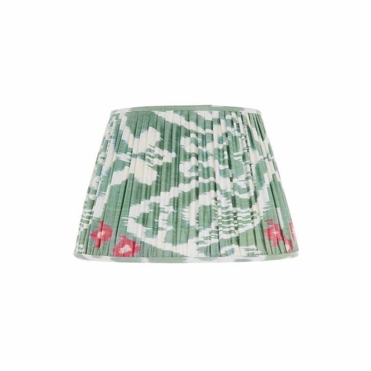 Green & Pink Silk Ikat Lampshade, 35cm