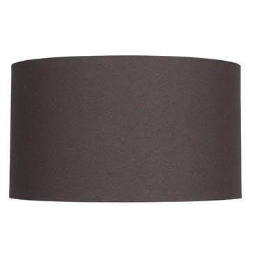 Grey Handloom Cylinder Shade, 40cm