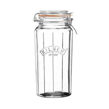 Faceted Clip-Top Jar, 1.8L