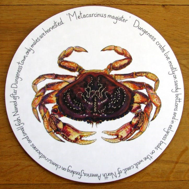 Dungeness Crab Tablemat - 28cm
