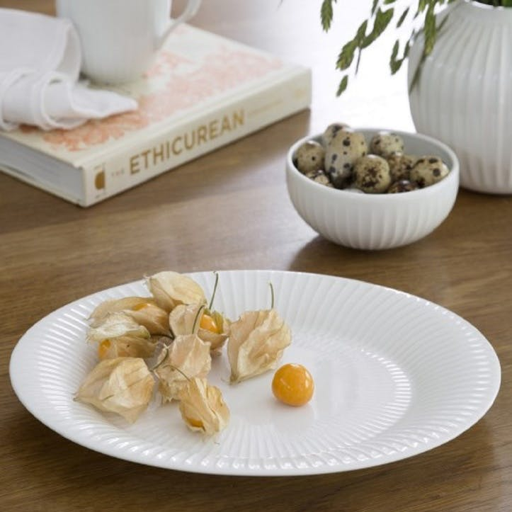Hammershøi Serving Plate, 34cm, White