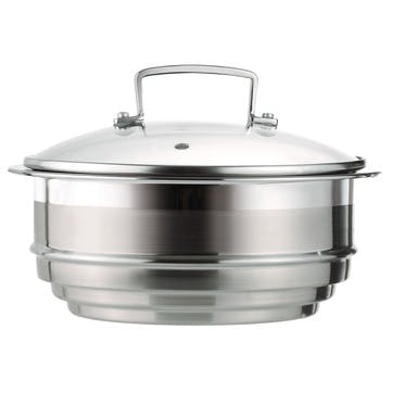3-Ply Stainless Steel Multi-Steamer with Glass Lid