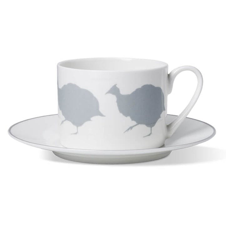 Guinea Fowl Cup and Saucer