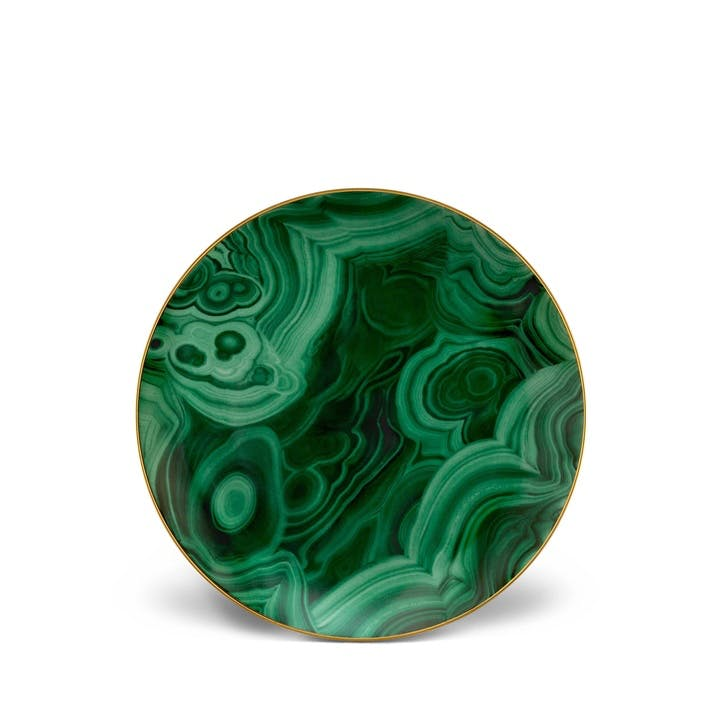 Malachite Dessert Plates, Set of 4