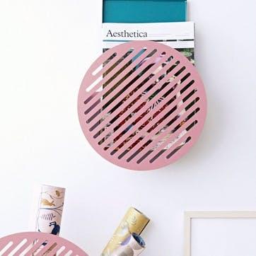 Diagonal, Small Wall Basket, Pink