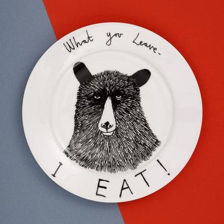 'What You Leave I Eat!' Side Plate