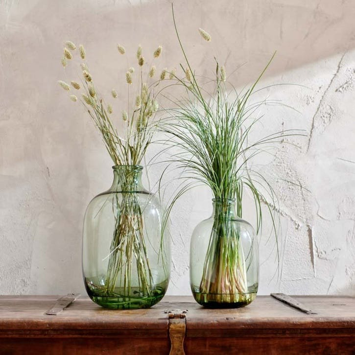 Lua Glass Vase, Green, Large