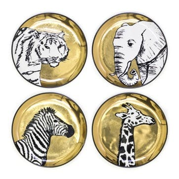 Animalia Coasters, Set of 4