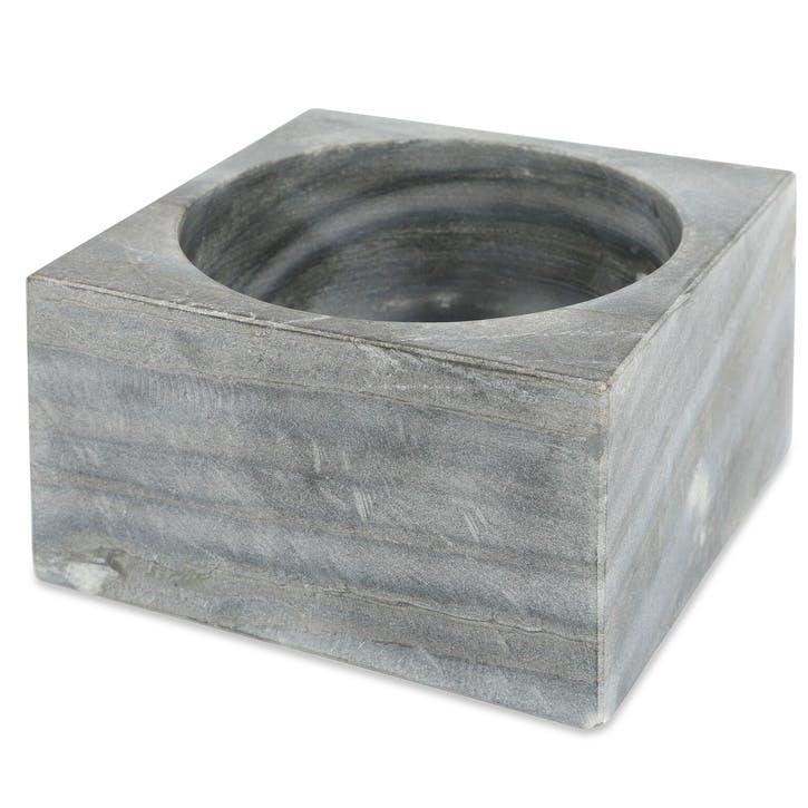 Marble Modernist Bowl, Large, Grey