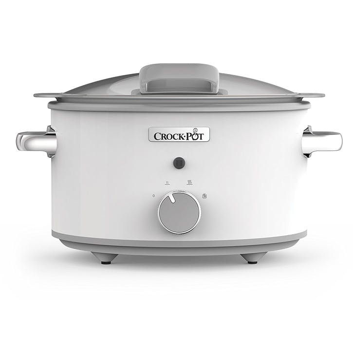 Duraceramic Saute Slow Cooker with Hinged Lid; White