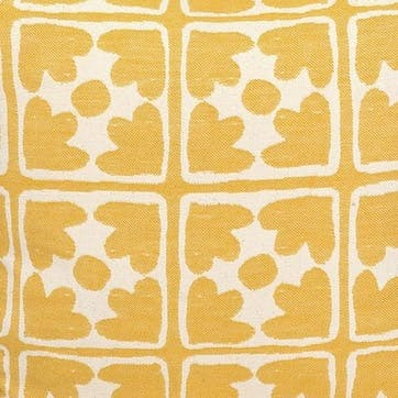 Bloom Tea Cosy; Mustard and Cream