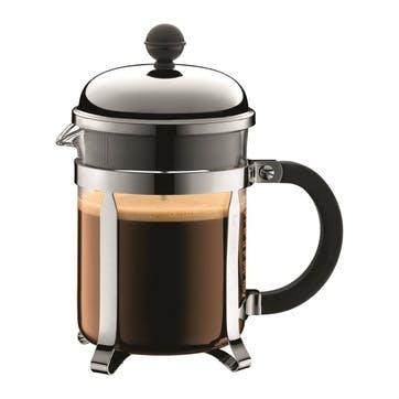 Chambord, 4 Cup Coffee Maker, 0.5 Litre, Silver/Black