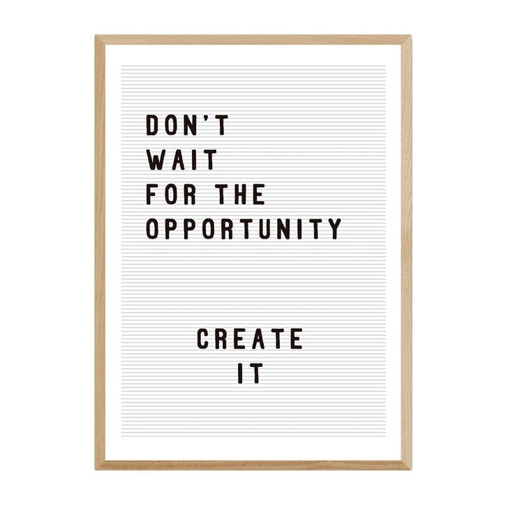 Rafael Farias, Don't Wait For the Opportunity, Framed Art Print, H61 x W44 x D2cm, Beige/ Natural