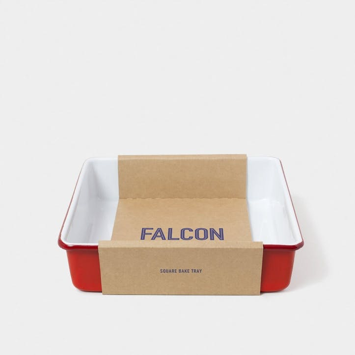 Square Bake Tray, Pillarbox Red