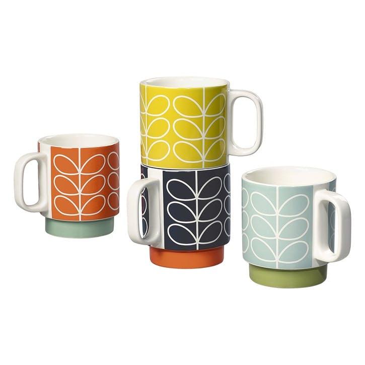 Stacking Mugs Set, Linear Stem