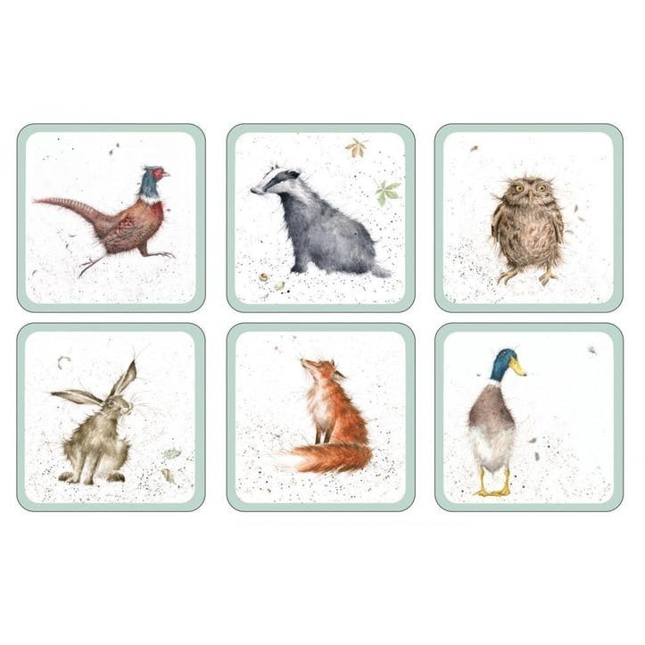 Wrendale Coasters, Set of 6