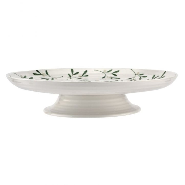 Mistletoe Footed Cake Stand