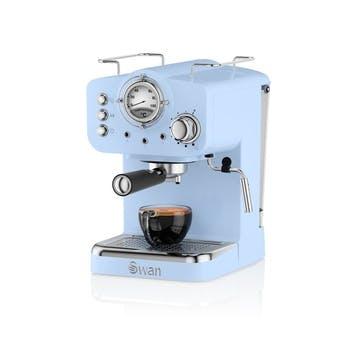Retro Espresso Machine, Blue