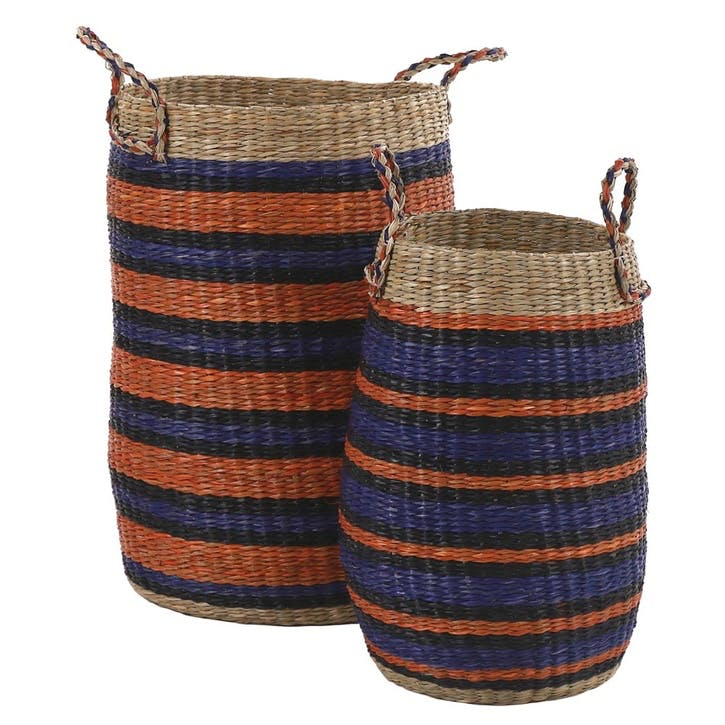 Kirke Set of 2 Seagrass Baskets, Multi