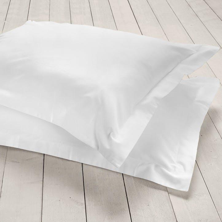 Pure Oxford Pillowcase, Set of 2, White