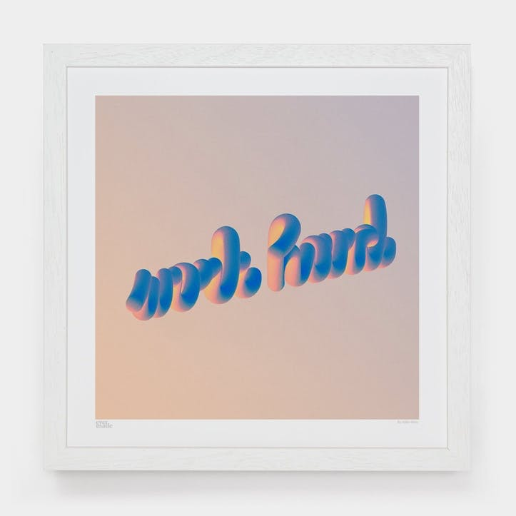 Milla Ódor, Work Hard Art Print, Unframed, Small