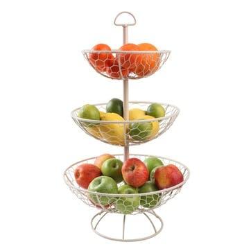 Provence 3 Tier Basket, Cream