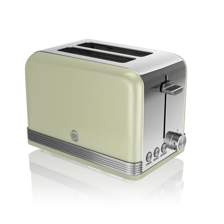 Retro 2-Slice Toaster, Green