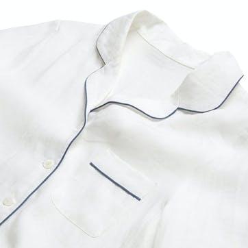 White Linen Pyjama Set, Medium