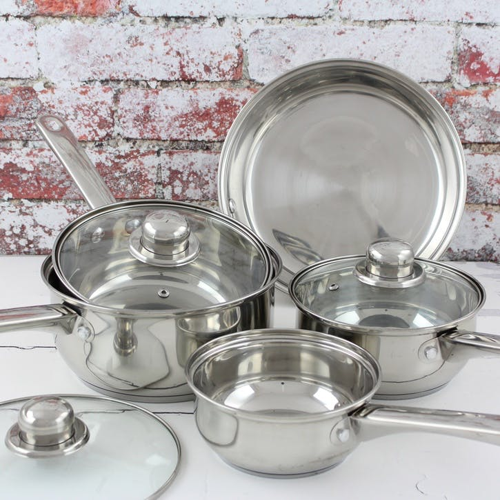 Stainless Steel Cookware, 5 Piece Set