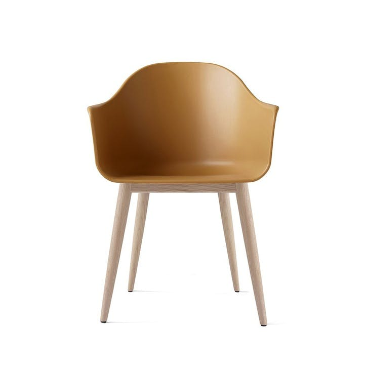 Harbour, Dining Chair, H81 x W59 x D57cm, Mustard & Oak