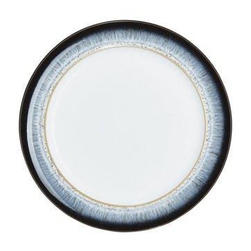 Halo Dinner Plate, 28cm, Black/ Blue